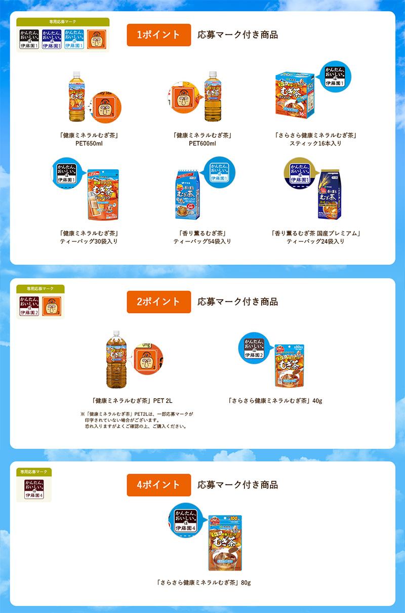 健康ミネラル麦茶 絶対もらえるキャプ翼キャンペーン 対象商品