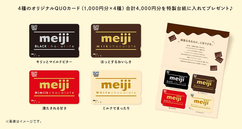 明治チョコレート 懸賞キャンペーン2018秋冬 プレゼント懸賞品
