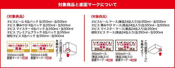 エビスビール バカラグラス懸賞キャンペーン2018秋 応募マーク