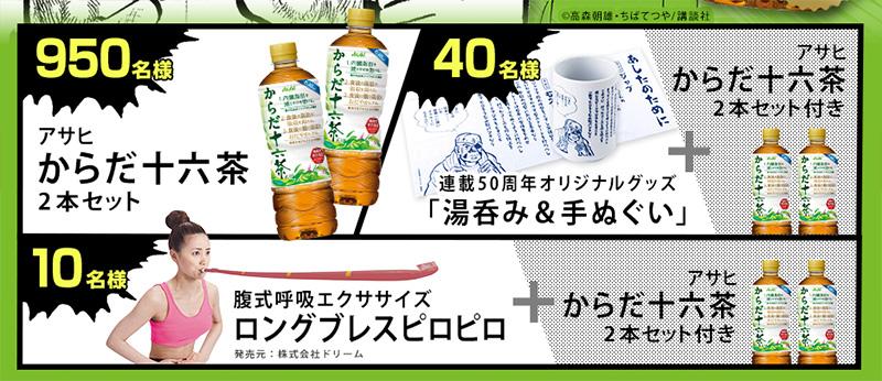 からだ十六茶 ツイッター懸賞キャンペーン プレゼント懸賞品