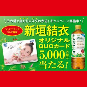 からだ十六茶 コンビニ限定LINE懸賞 新垣結衣キャンペーン2018秋