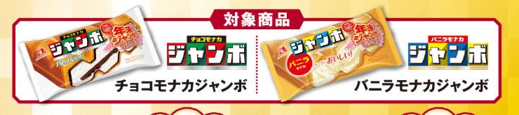 チョコモナカジャンボ 年末ジャンボ懸賞キャンペーン2018 対象商品
