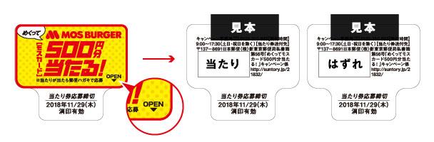 ペプシスペシャルゼロ モス懸賞キャンペーン2018秋 キャンペーンシール