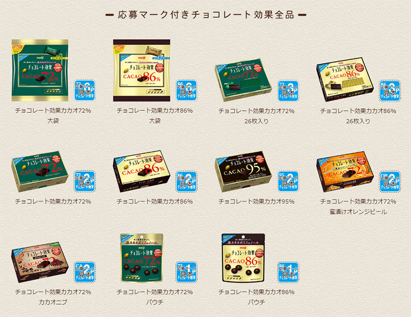 チョコレート効果 懸賞キャンペーン2018~2019 対象商品