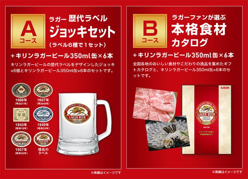 キリンラガービール 懸賞キャンペーン2018冬 プレゼント懸賞品
