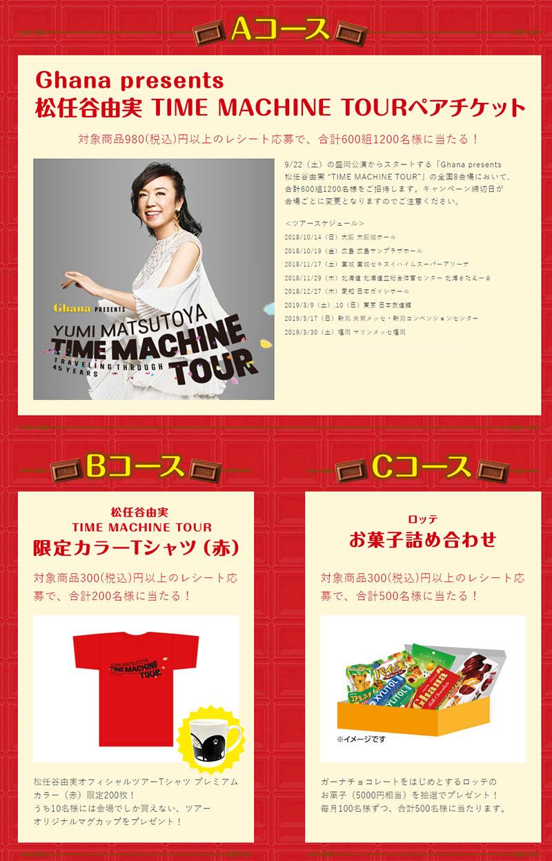 ガーナチョコレート 松任谷由実 懸賞キャンペーン プレゼント懸賞品