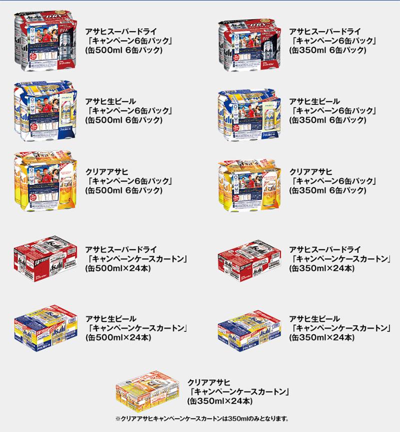 アサヒビール 東京2020懸賞キャンペーン2019 対象商品