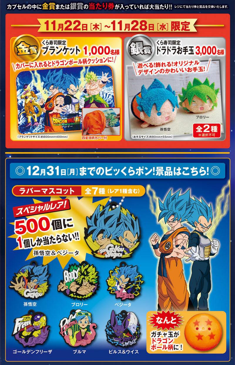 くら寿司 ドラゴンボール超キャンペーン2018 プレゼント懸賞品