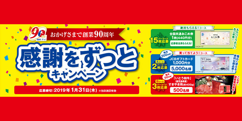 伊藤ハム90周年記念懸賞キャンペーン