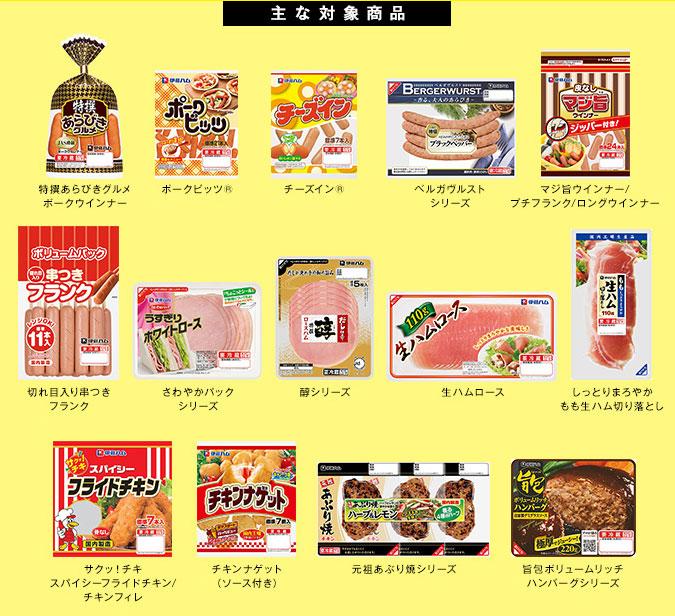 伊藤ハム90周年記念懸賞キャンペーン対象商品
