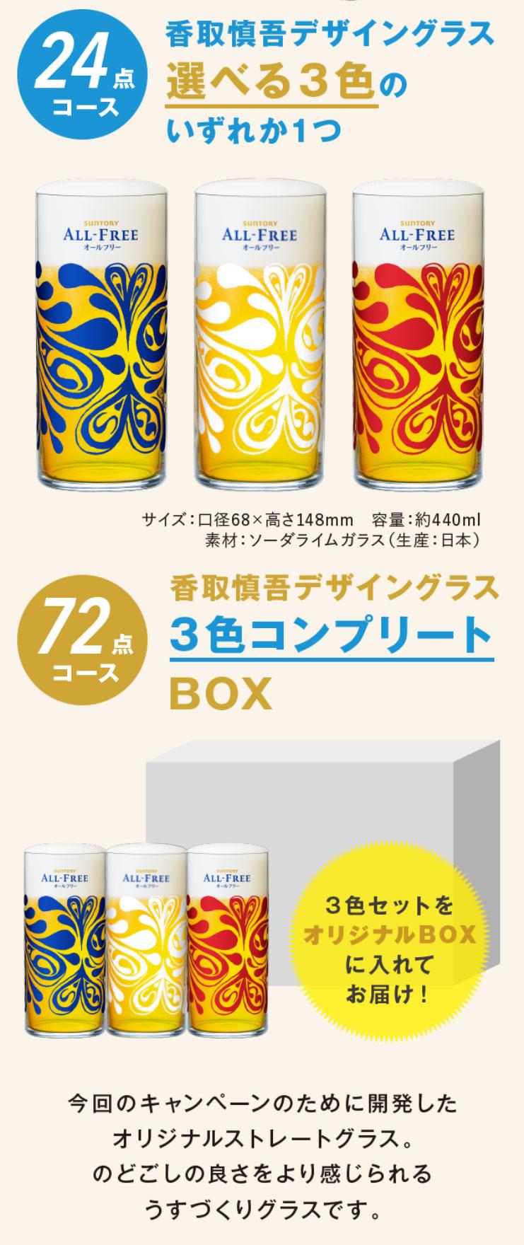オールフリー 絶対もらえる香取慎吾グラスキャンペーン プレゼント懸賞品
