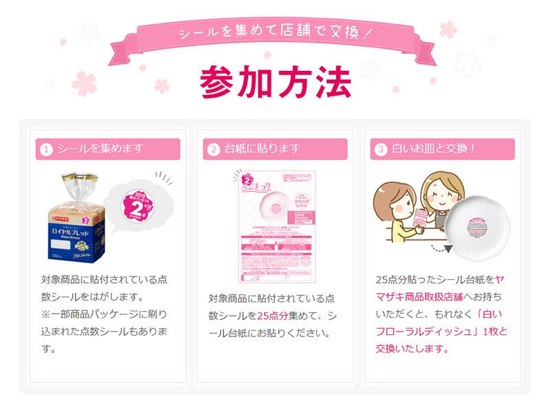 ヤマザキ春のパンまつり2019 参加方法