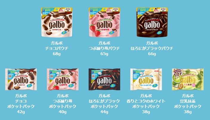 ガルボ セクゾ 懸賞キャンペーン2019春 対象商品