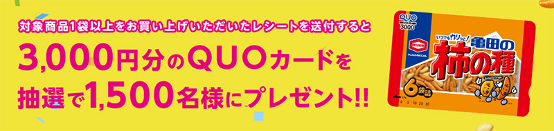 亀田 柿の種 懸賞キャンペーン2019春 プレゼント懸賞品