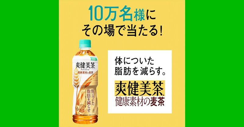 爽健美茶 健康素材の麦茶 無料懸賞キャンペーン2019