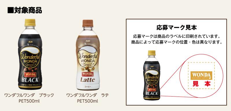 ワンダフルワンダ 懸賞キャンペーン2019春 対象商品
