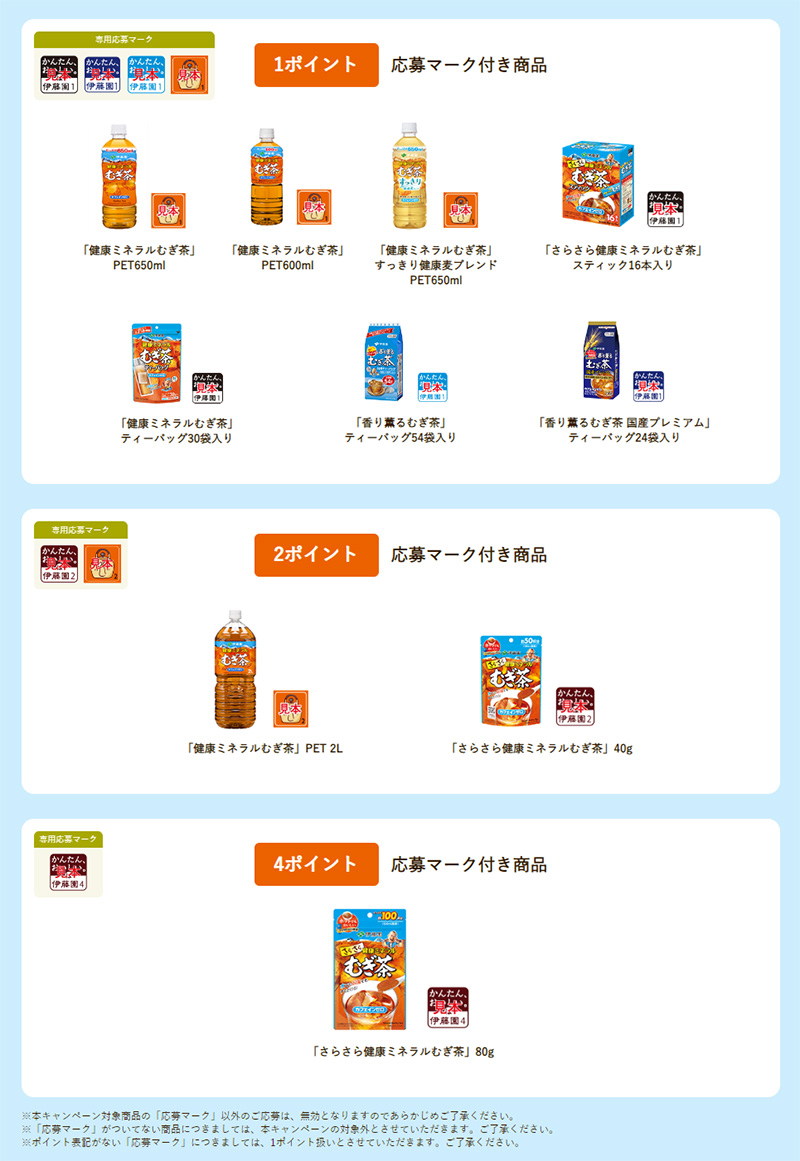 健康ミネラルむぎ茶 絶対もらえる懸賞キャンペーン2019夏 対象商品