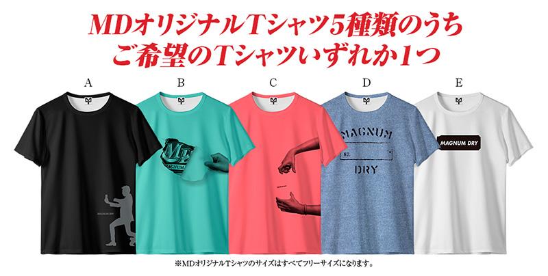 マグナムドライ Tシャツ絶対もらえる懸賞キャンペーン2019夏 マグナムドライTシャツ