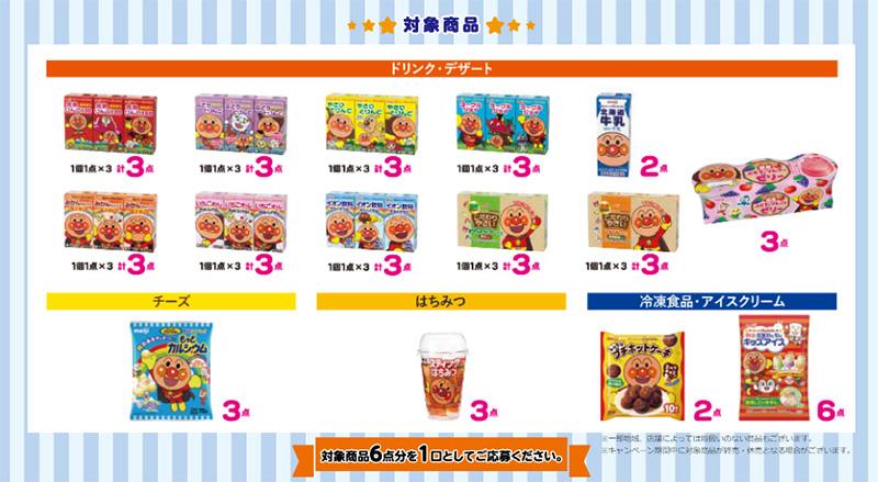明治 アンパンマン 懸賞キャンペーン2019夏 対象商品