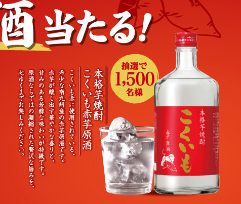 こくいも赤芋原酒 プレゼント懸賞キャンペーン2019 プレゼント懸賞品