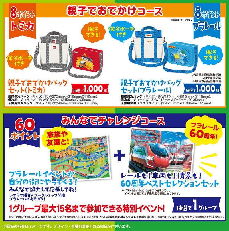 アサヒ飲料 トミカ プラレール 懸賞キャンペーン2019夏 プレゼント懸賞品