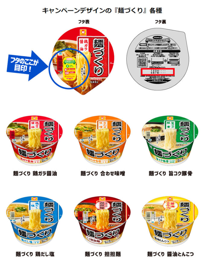 LINEポイント懸賞キャンペーン対象商品 マルちゃん麺づくり