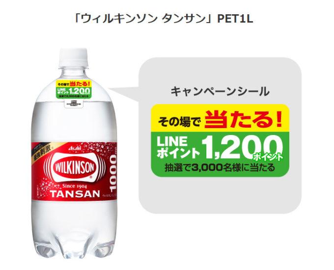 ウィルキンソン タンサン LINE懸賞キャンペーン2019 対象商品