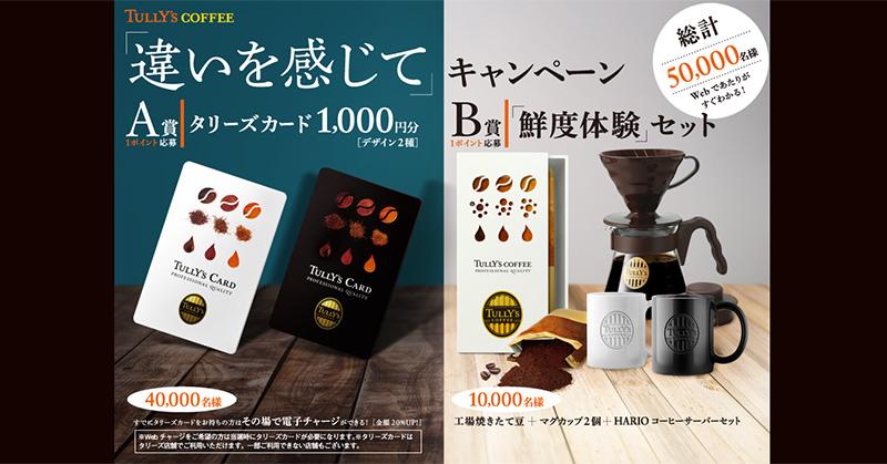 タリーズコーヒー 懸賞キャンペーン2019冬