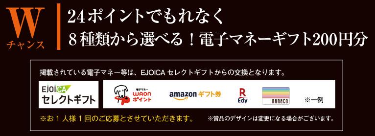 タリーズコーヒー 懸賞キャンペーン2019冬 プレゼント懸賞品 Wチャンス 選べる電子マネーギフト