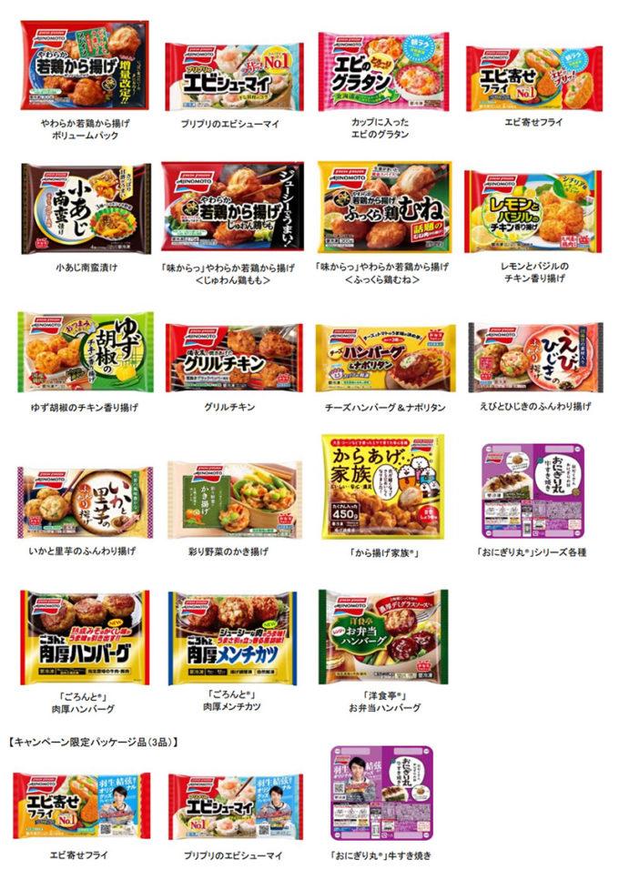 味の素冷凍食品 羽生結弦 懸賞キャンペーン2019 対象商品