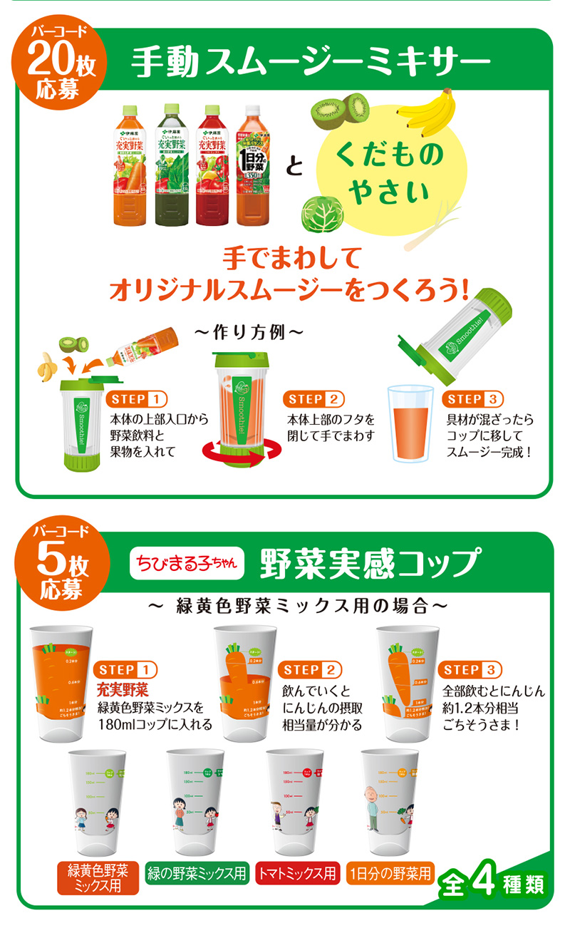 充実野菜 絶対もらえるキャンペーン2019冬 プレゼント懸賞品