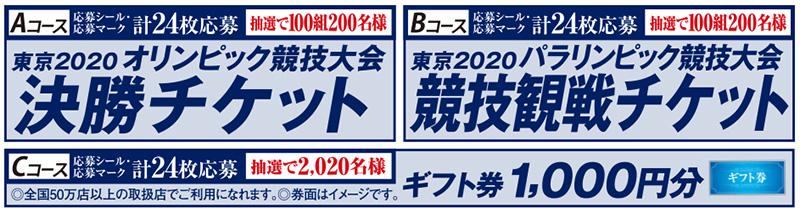クリアアサヒ 東京オリンピックチケット懸賞キャンペーン2019秋
