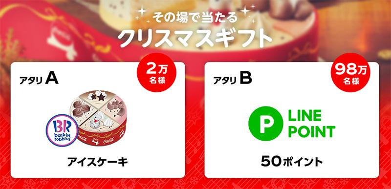 コカ・コーラ リボンボトル懸賞キャンペーン2019 クリスマスギフト