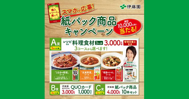 伊藤園 紙パック飲料 懸賞キャンペーン2019