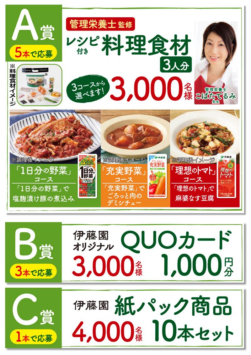 伊藤園 紙パック飲料 懸賞キャンペーン2019 プレゼント懸賞品