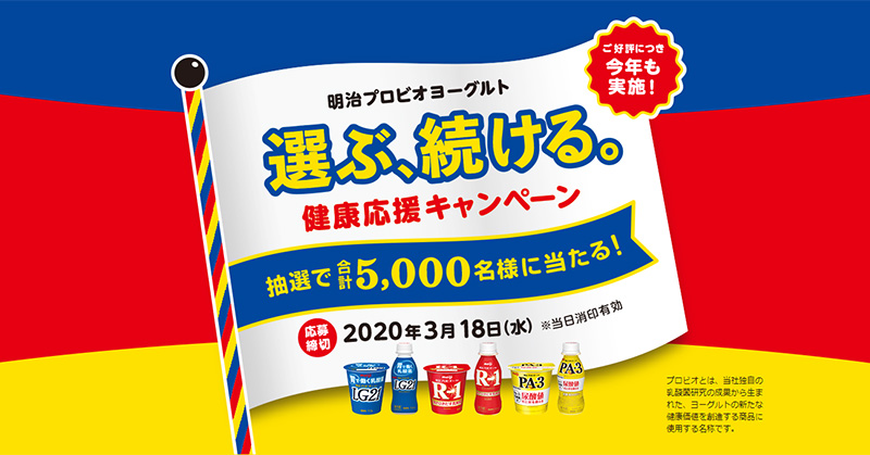 R1 LG21 PA3 明治プロビオヨーグルト懸賞キャンペーン2019~2020
