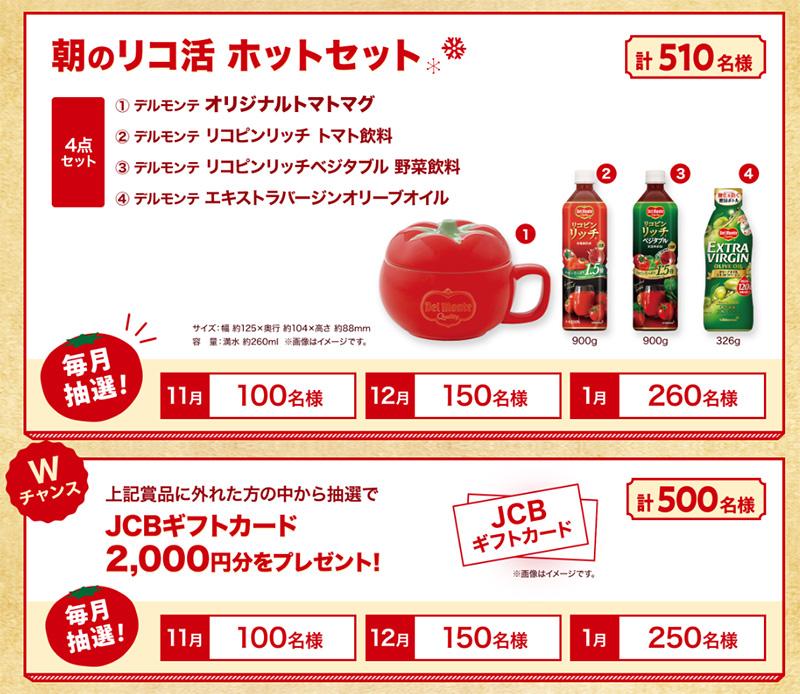 デルモンテ トマトジュース 懸賞キャンペーン2019 プレゼント懸賞品