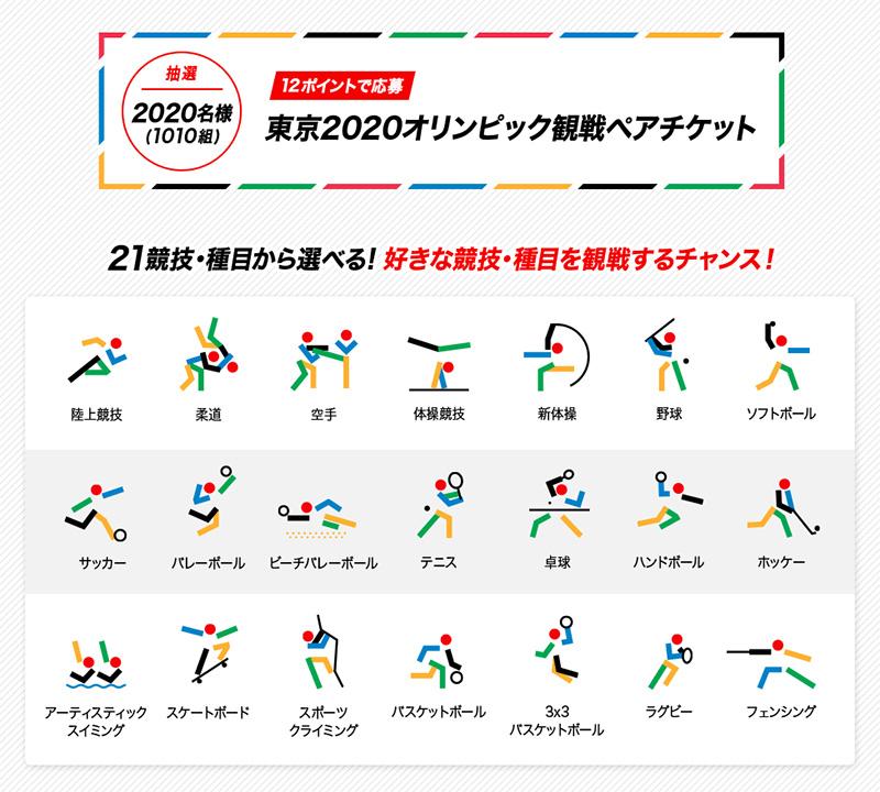 東京2020オリンピック観戦ペアチケット