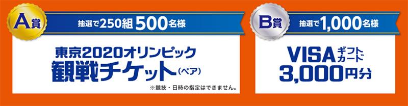 キッコーマン 東京2020オリンピック懸賞キャンペーン プレゼント懸賞品