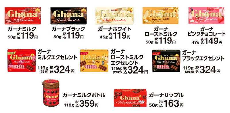 ロッテ ガーナ 羽生結弦ファミマキャンペーン2020 対象商品