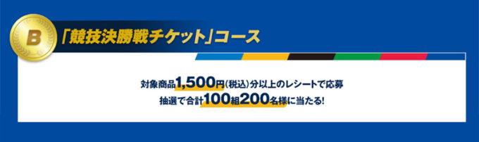 明治 東京2020オリンピックチケット懸賞キャンペーン 東京2020オリンピック競技決勝戦チケットコース