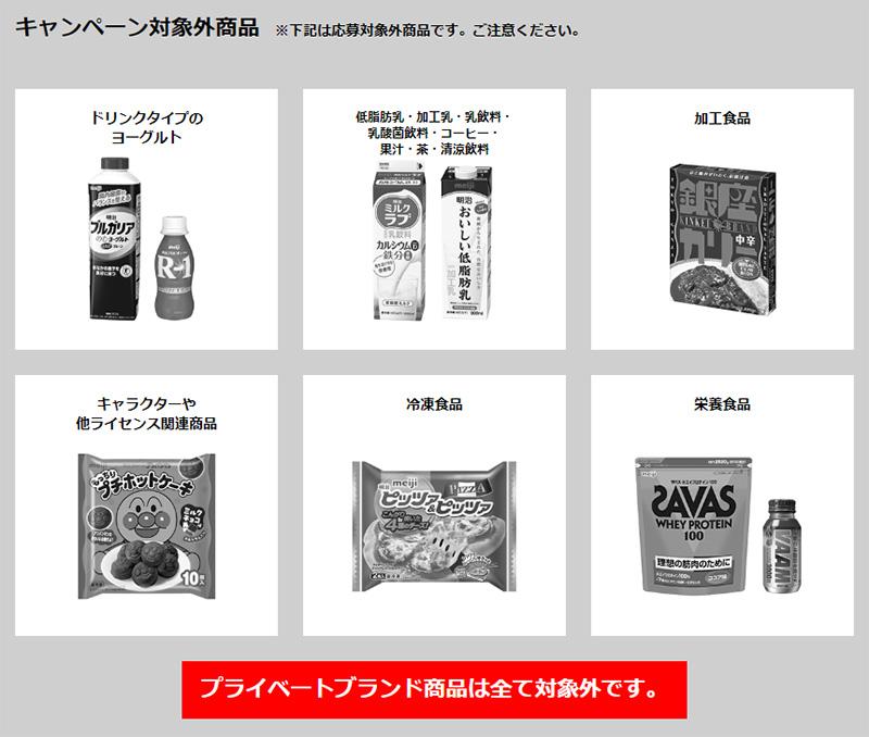 明治 東京2020オリンピックチケット懸賞キャンペーン 対象外商品
