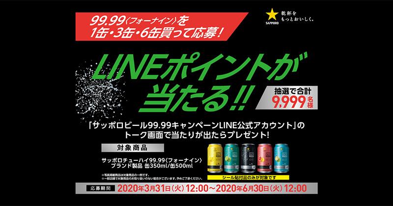 フォーナイン 99.99 懸賞キャンペーン2020春