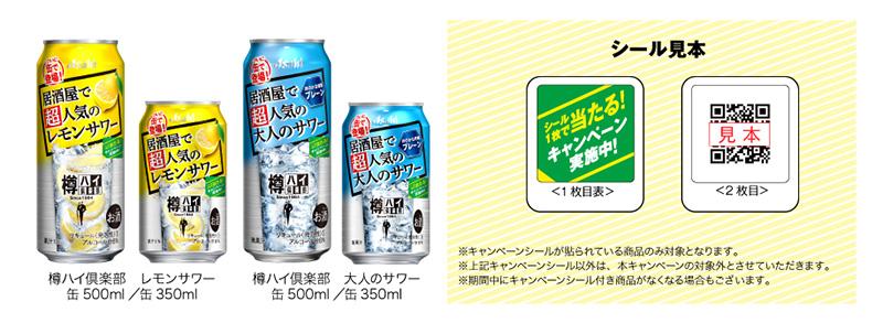 アサヒ 樽ハイ倶楽部 ジョッキ懸賞キャンペーン2020 対象商品