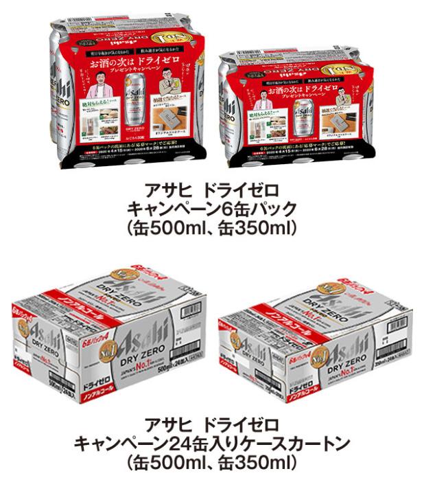アサヒ ドライゼロ おじさん図鑑キャンペーン2020春 対象商品