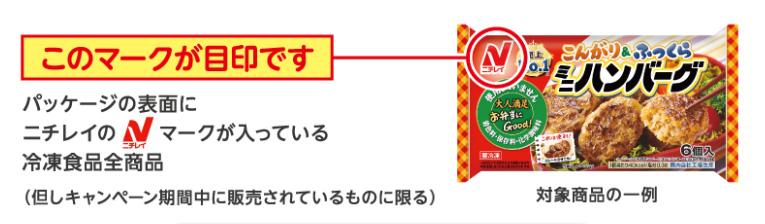 ニチレイ冷凍食品 深田恭子 懸賞キャンペーン2020春 対象商品