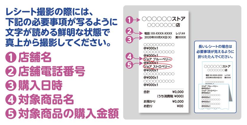 ジョア SixTONES 懸賞キャンペーン2020 レシート画像
