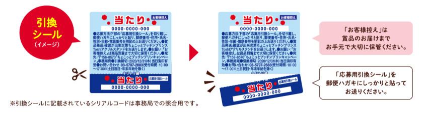 ちょこっとプッチンプリン ToshI懸賞キャンペーン 当たり券