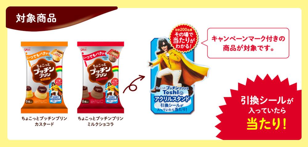 ちょこっとプッチンプリン ToshI懸賞キャンペーン 対象商品