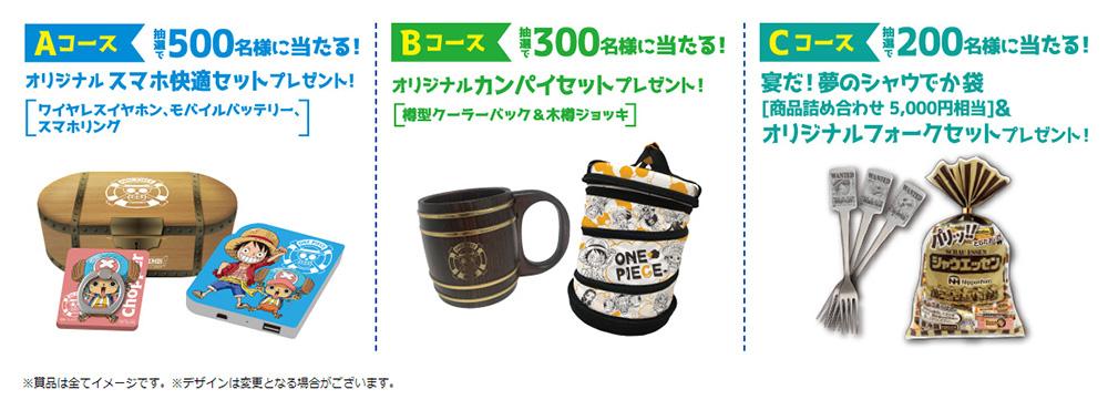日本ハム ワンピース懸賞キャンペーン2020夏 プレゼント懸賞品